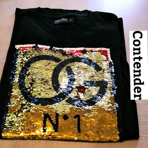 Contender Large Sequined Logo Front Shirt …